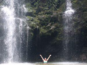 Swimming in Waikani Falls in Maui
