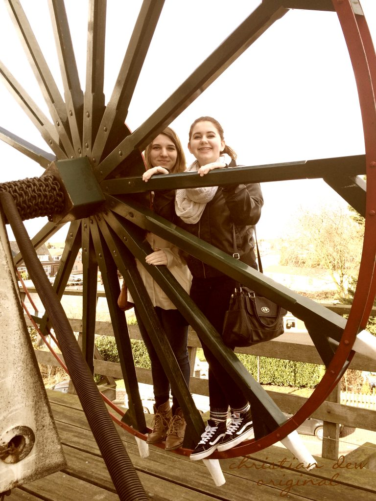 Christian's daughters Mary and Mollie at Sloten Windmill.