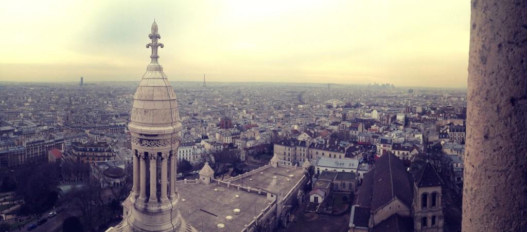 pano view of paris from the Sacré-Cœur