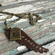 Explorer Series: Metal Stamped Wanderer Necklace | Contented Gypsy