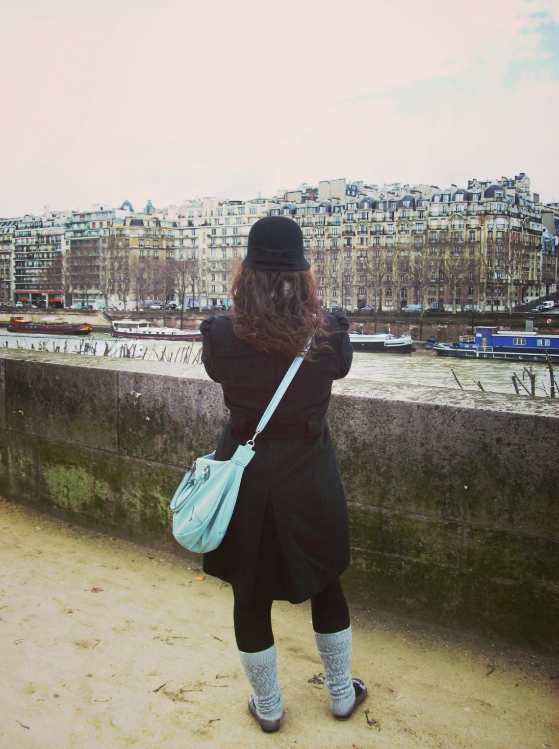 Chelsey in front of the seine.