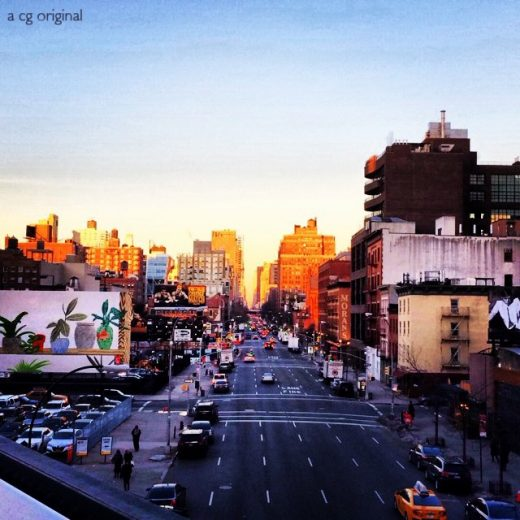 Contented Gypsy | Sunset Over The High Line