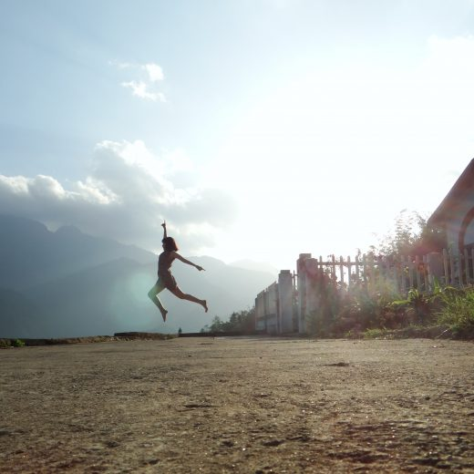 Contented Gypsy | A Women Skipping